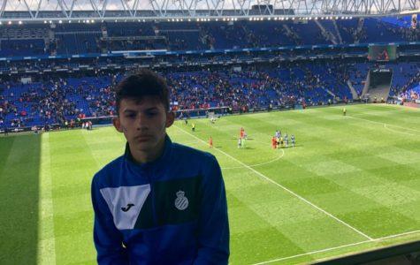 Junior goalkeeper showcases talents in Barcelona