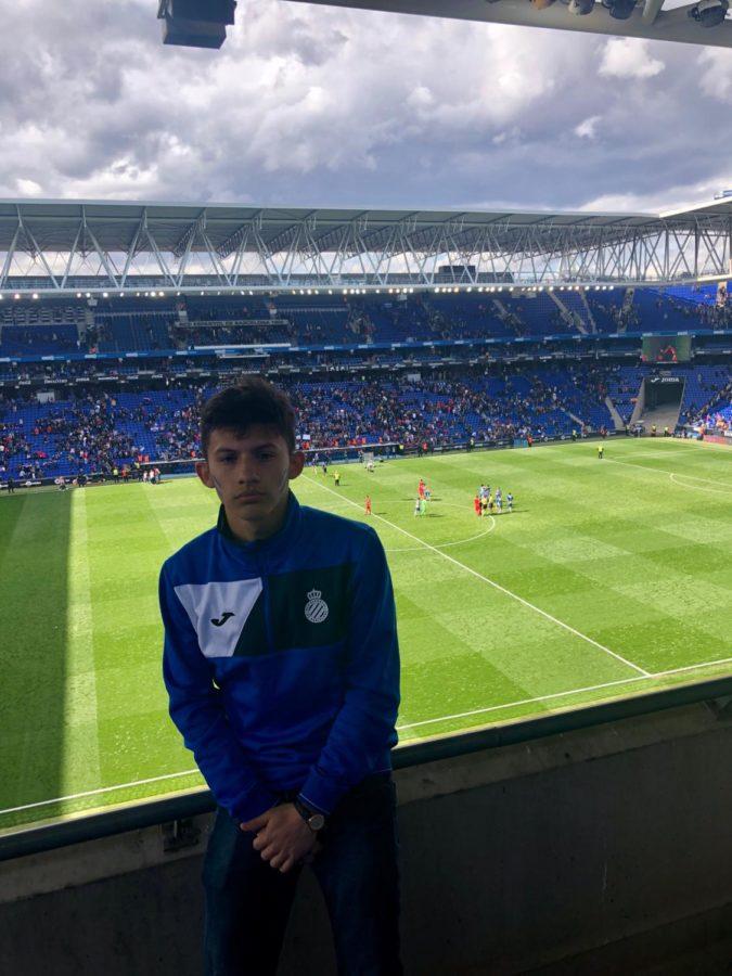 Junior+goalkeeper+showcases+talents+in+Barcelona